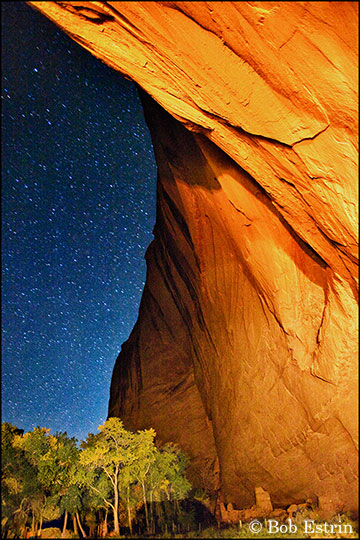 Canyon De Chelly at night