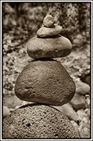Sedona Stone Stacking