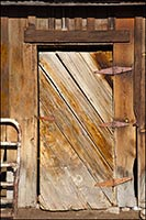 Wooden barn door